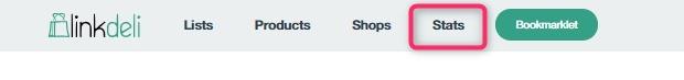 Linkdeli dashboard, Statistics page