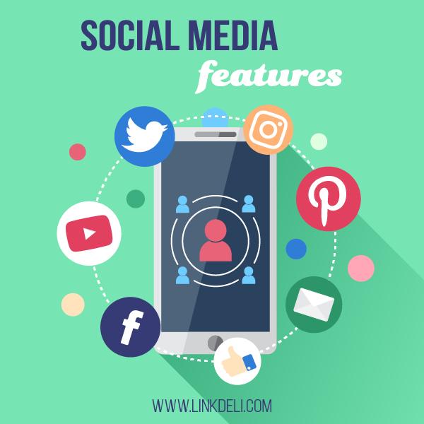 LinkDeli Social Media Features